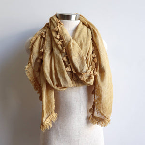 Footloose Scarf in Mustard.