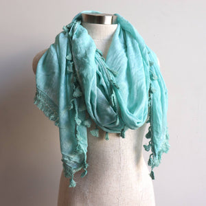 Footloose Scarf in Sea Foam.