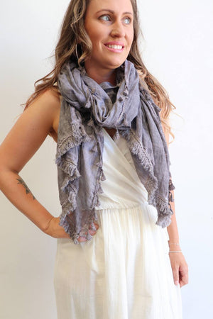 Footloose Scarf in Stone.