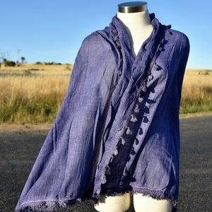 Footloose Scarf in Indigo.