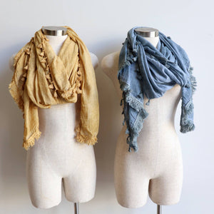 Footloose Scarf in Mustard + Silver.