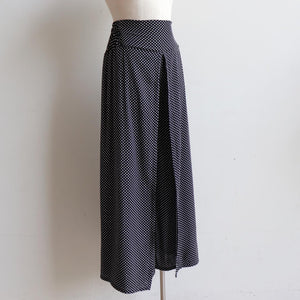 Free Spirit Wrap Pant in Polka Dot, a classic wide-leg palazzo style for summer and winter wardrobes