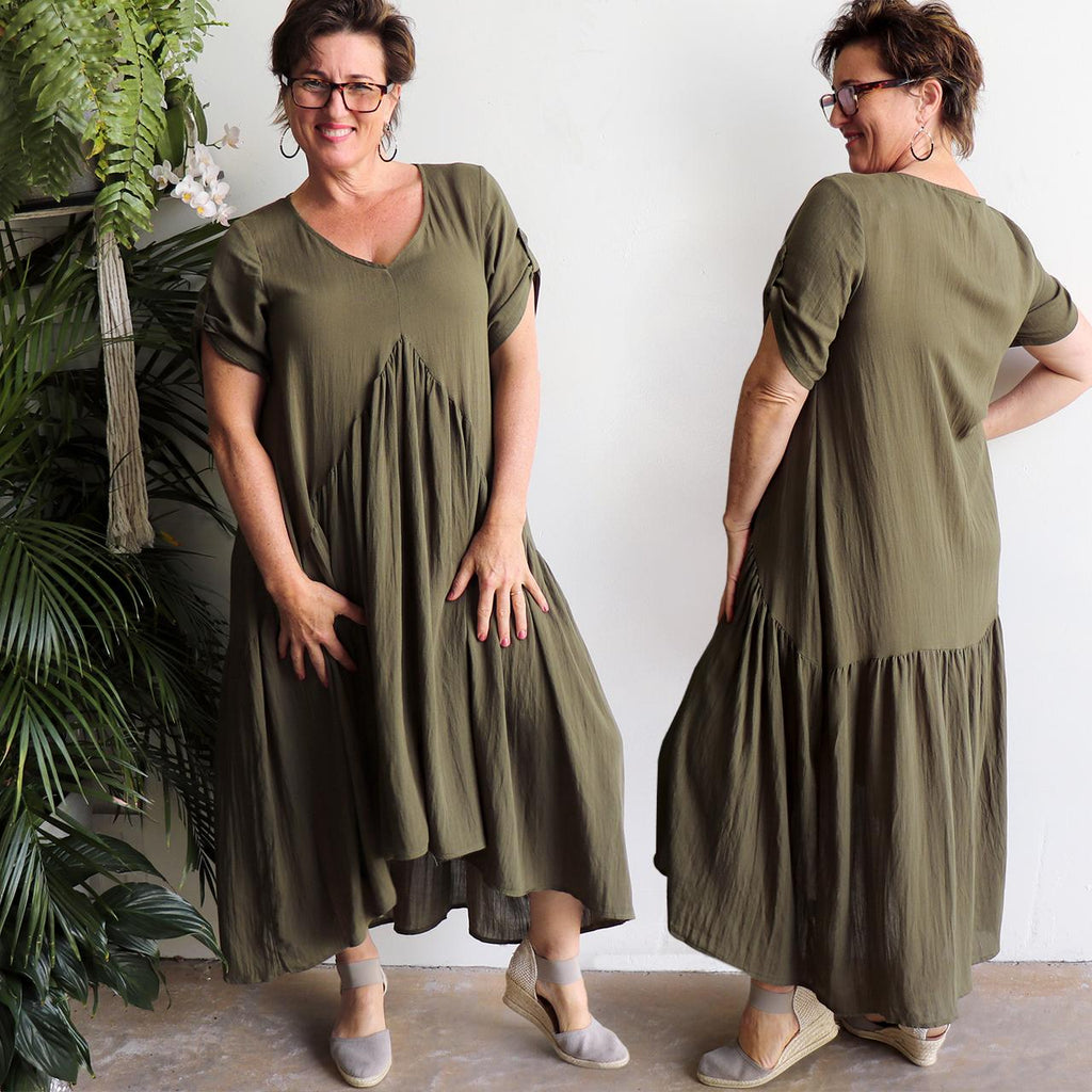 Gem Of A Dress - Olive Green