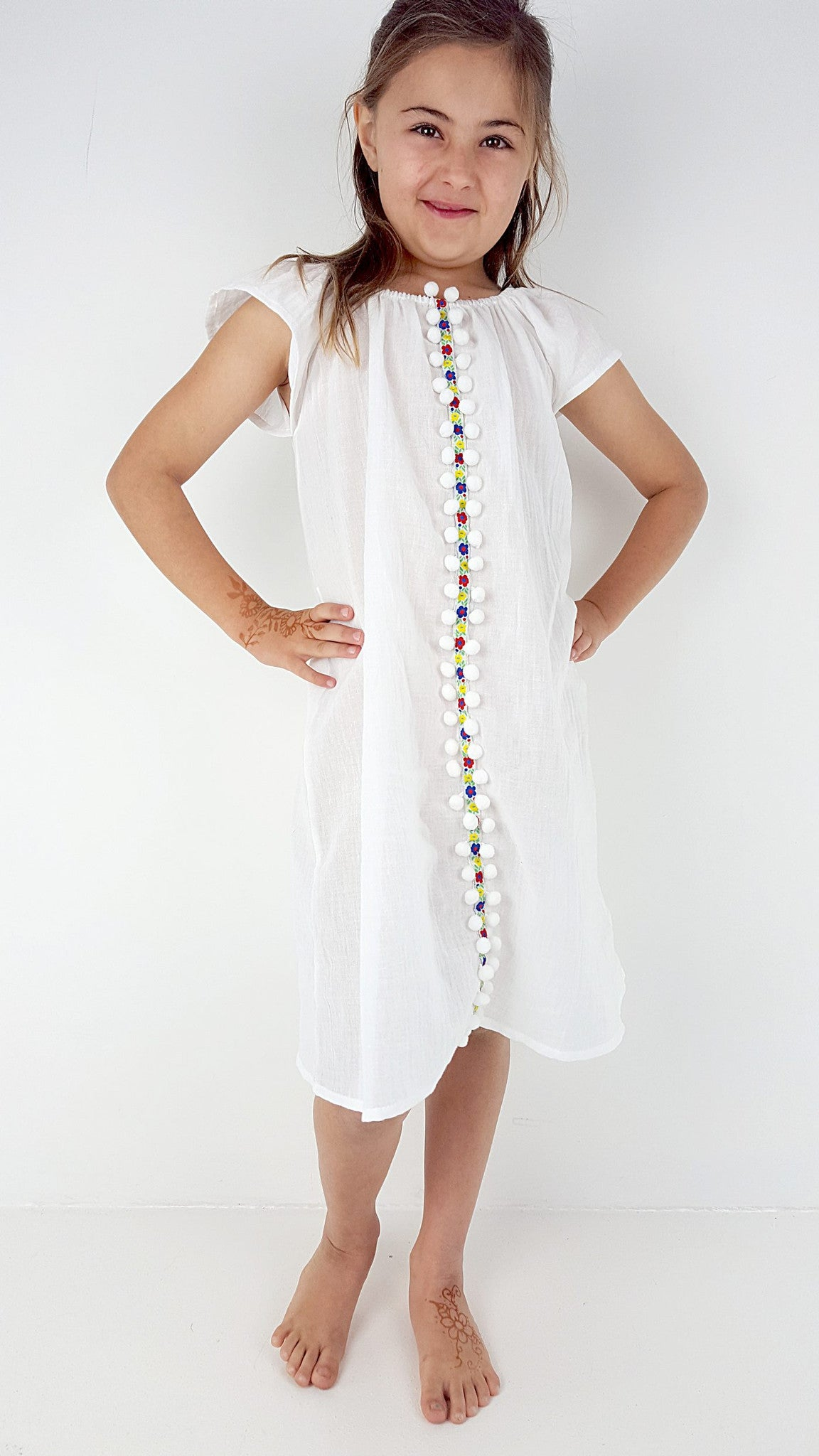 ef20f2a37 Summer Sundays White Cotton Dress – KOBOMO