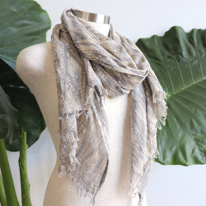 In The Atmosphere 100% cotton Scarf  - Misty Grey.
