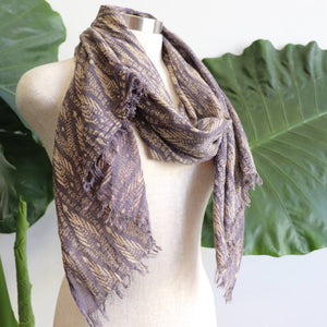 In The Atmosphere 100% cotton Scarf  - Thunder Grey.