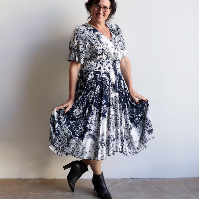 Isabelle Dress - Provincial Print