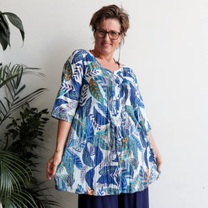 Island Resort Blouse - Rainforest
