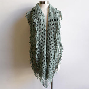 Soft knit Infinity Scarf created from acrylic fibre is a cosy wardrobe addition perfect for winter outfits. Versatile and comfortable to wear, it measures 180cm around. Seafoam.