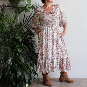 Jessie's Girl Midi Dress - Rustic Floral