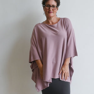 Lakeview Winter Knit Poncho - Cardamom Pink