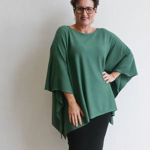 Lakeview Winter Knit Poncho - Sage Green
