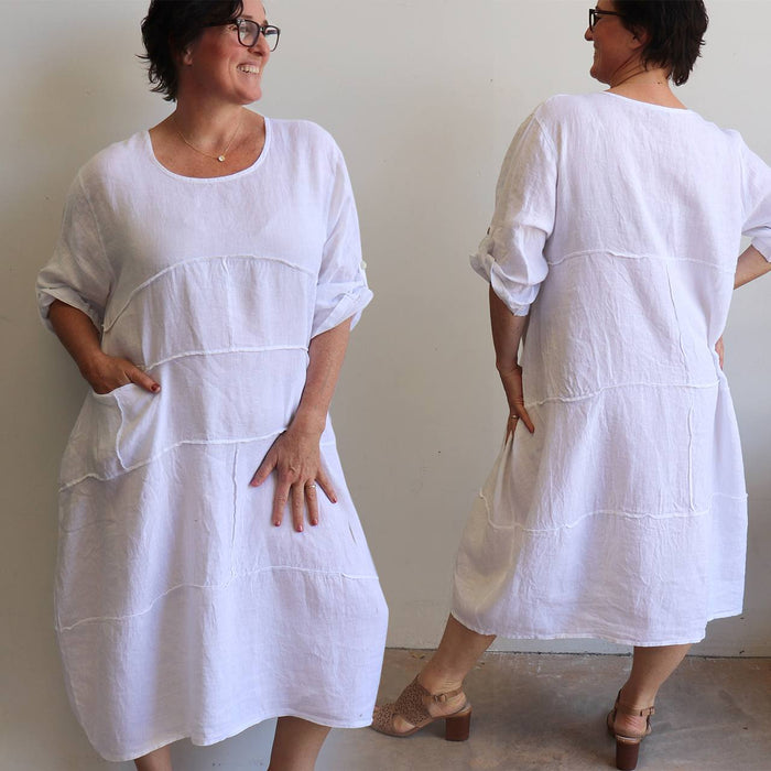 Long Linen Kaftan Dress