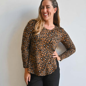 Lucky Cat Winter Top with Long Sleeves