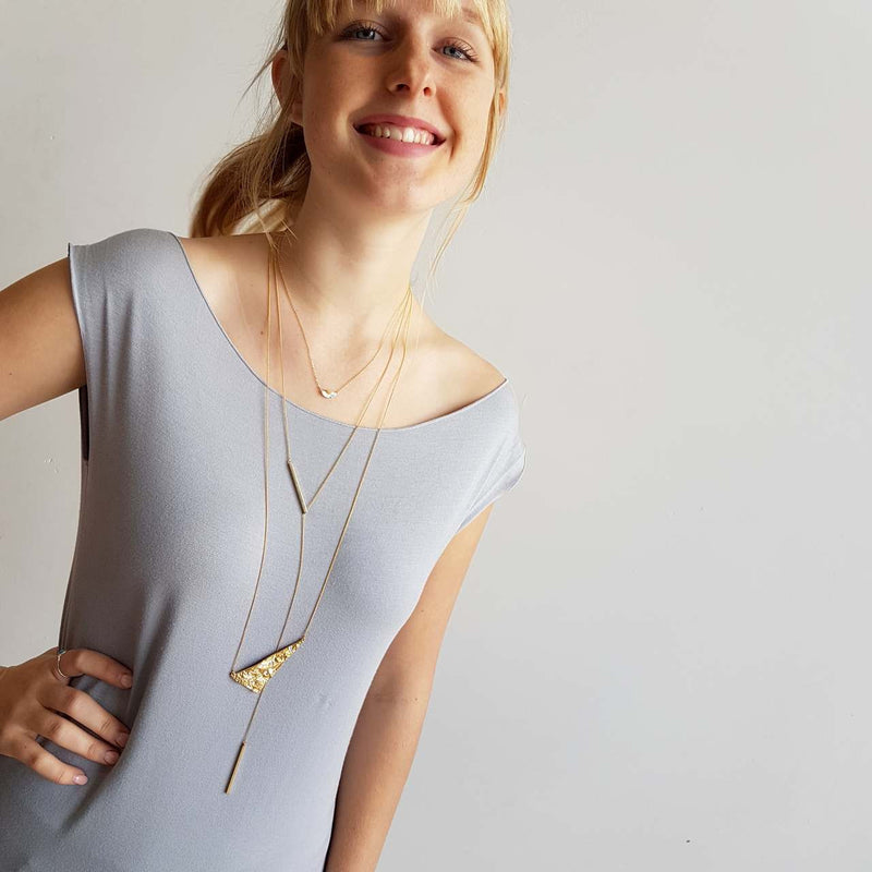 La Luna Rock Necklace Jewellery Gold Chain