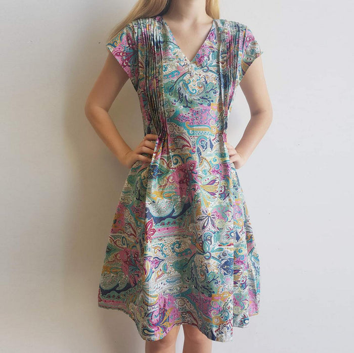 Matilda Dress - Rainbow Paisley