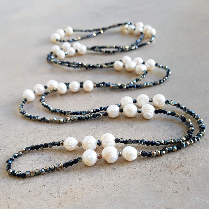Mazu Pearl and Cutglass Necklace