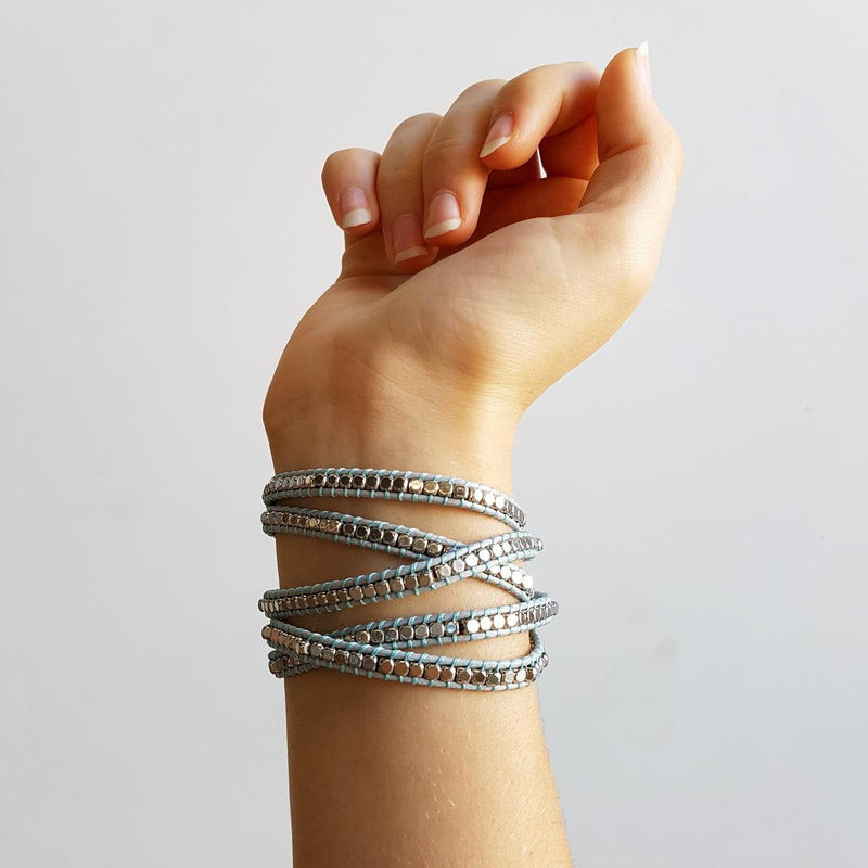 Metallic Long Wrap Bracelet