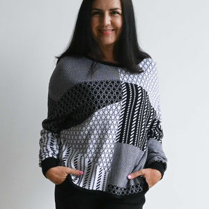 Organic Cotton Geometric Knit Jumper by Orientique