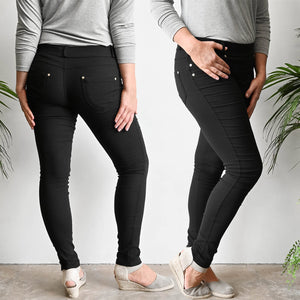 Stretch Jean Leggings - Black