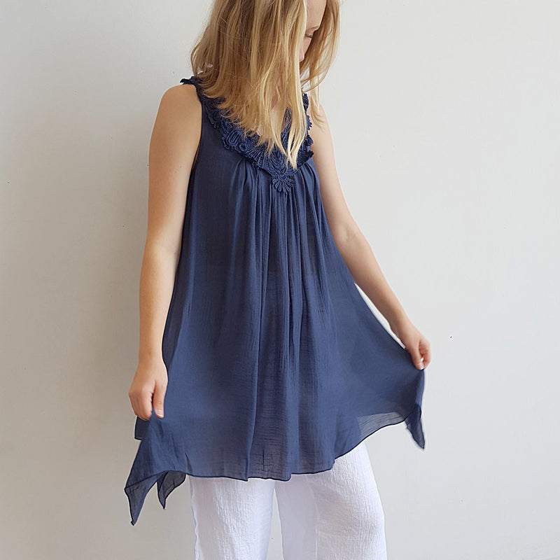 Ocean Breeze Sleeveless Tunic