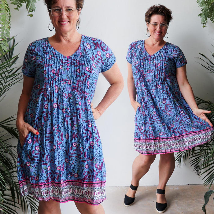 One Summer Tunic Dress - Garden Flowers