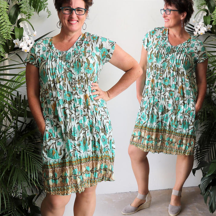 One Summer Tunic Dress - Turquoise Floral