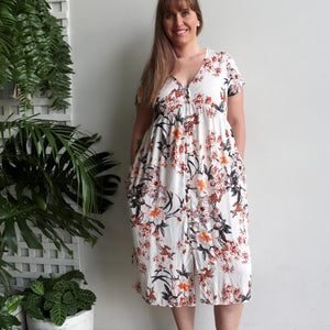 Palm Beach Dress - Autumn Floral