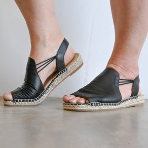 Pina Leather Slip-On Sandal by Diana Ferrari