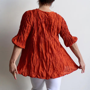 Pintuck Blouse Top