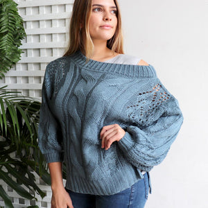 Pipeline Cable Knit Jumper
