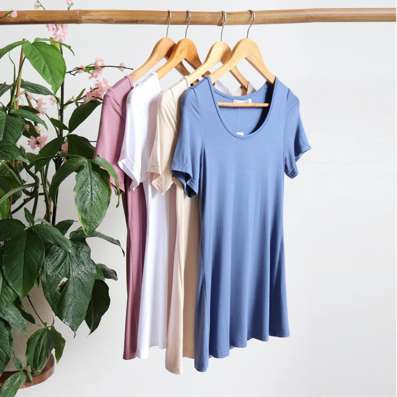 Women's stretchy soft polished cotton blend,  short sleeved t-shirt. Plain and basic summer top staple for easy styling and layering. Petite to plus size available from a 6 to 22.