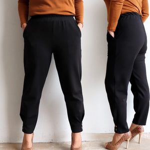 Ponte Jogger Pants are a smart casual winter stretch pant. Black.