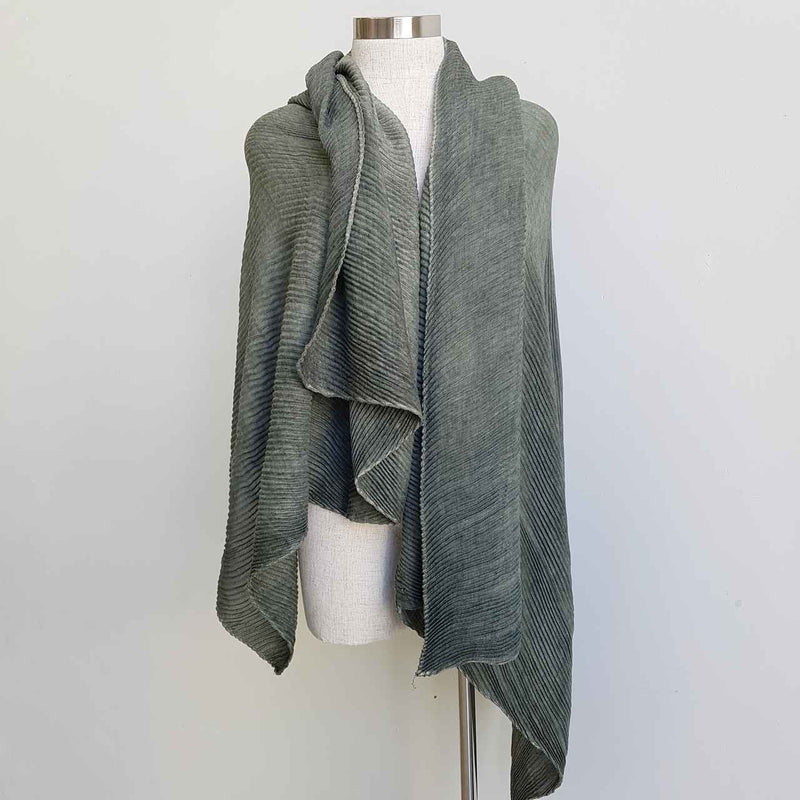 The Soprano Scarf Wrap soft crease pleat - olive green