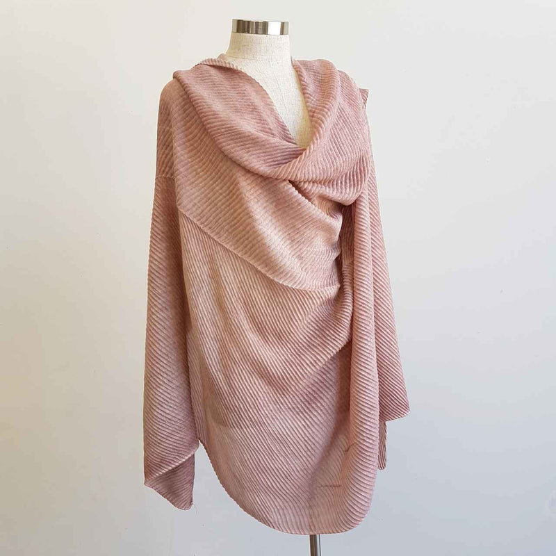 The Soprano Scarf Wrap soft crease pleat. Blush Pink.