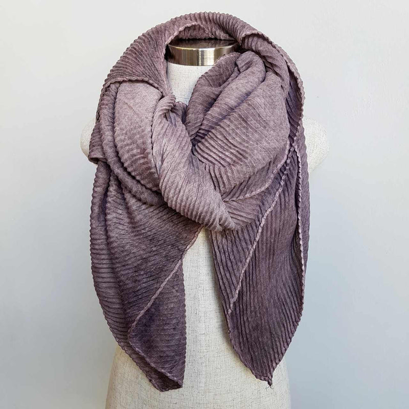 The Soprano Scarf Wrap soft crease pleat. Mauve