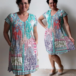 Start With A Smile Cotton Dress - Madeira