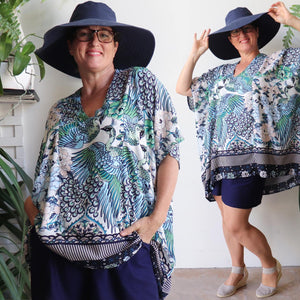 Summer In The City Kaftan - Kujaku