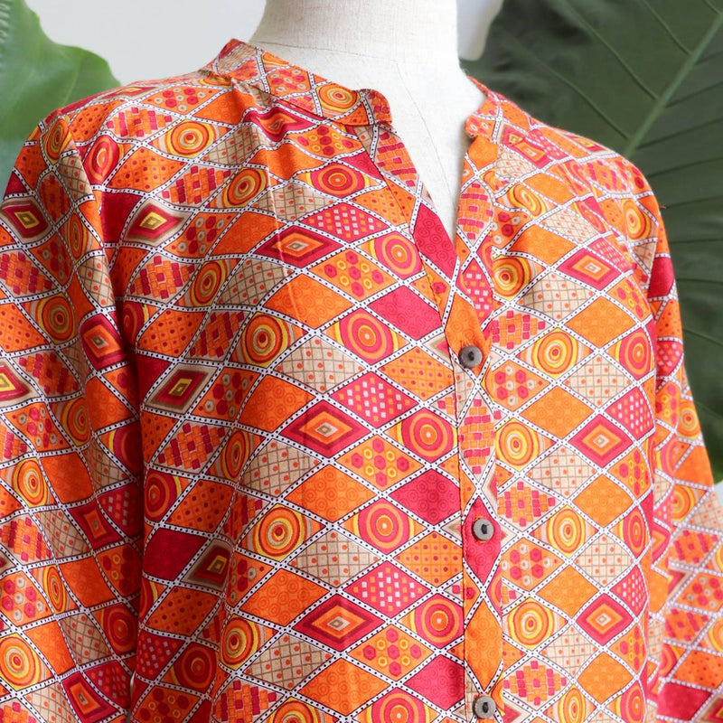 Sunshine Women's Kurta Top - Sunset Sands Mosaic.