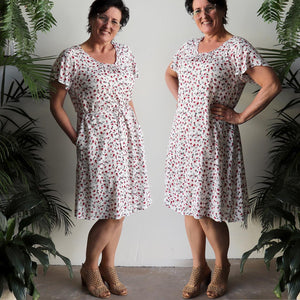Tea Tree Dress - Climbing Rose