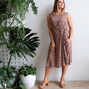The Torquay Dress - Rose Print