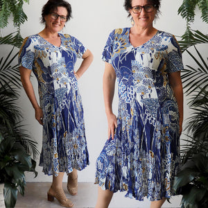 Today Not Someday Godet Midi Dress by Orientique in small to plus sizes.