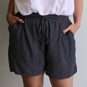 Zen Drawstring Shorts - Above-the-knee - Polka Dot