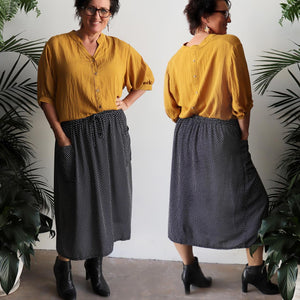 Zen Pocket Skirt - Polka Dot
