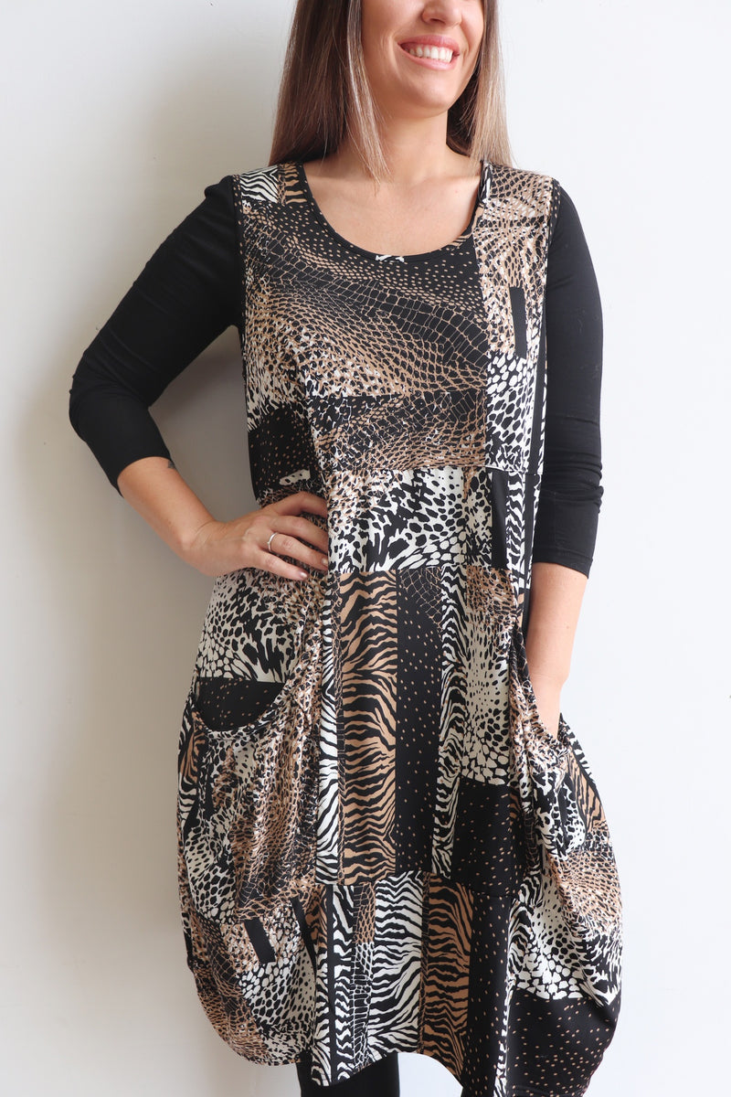 All Seasons Tunic Dress - Jersey - Animal