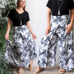 Free Spirit Wrap Pants - Bamboo Leaf
