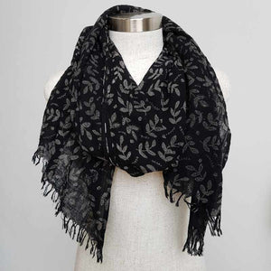 Walk In The Park Scarf - Natural cotton handmade neck accessory for Winter and Summer. Ebony