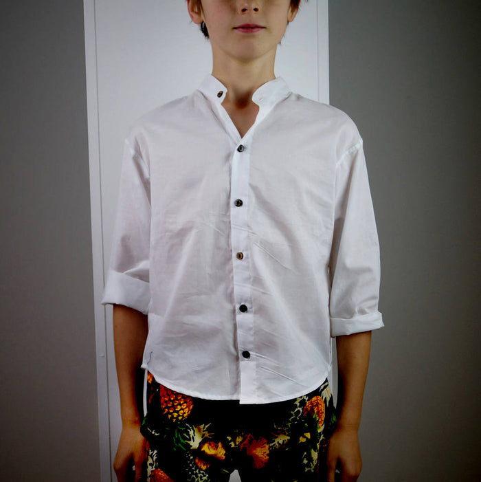 Boys Shirt - White cotton