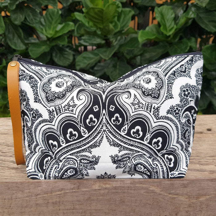 Anything Goes Clutch Bag - Paisley Black and White