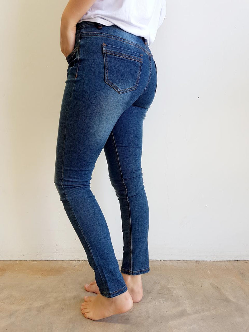 womens classic stretch denim jeans